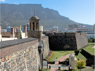 Castle of Good Hope main entrance with table mountain in background