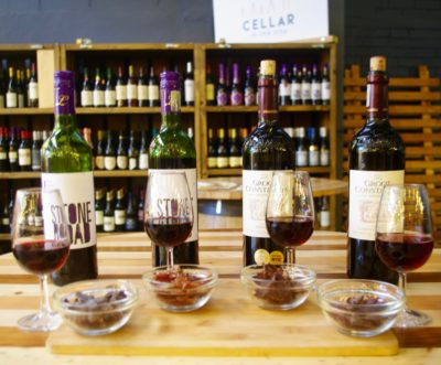 Cellar in the City tasting wine paired with biltong
