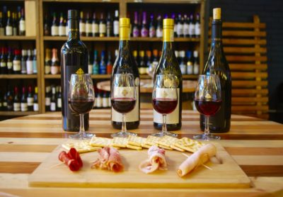 Cellar in the City tasting wine paired with cold meats