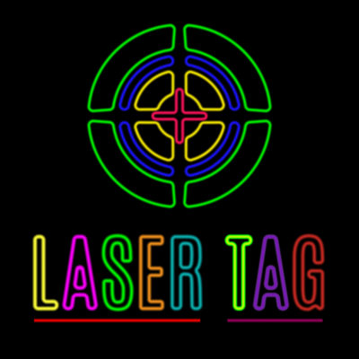 Laser Tag target with crosshair bulls eye