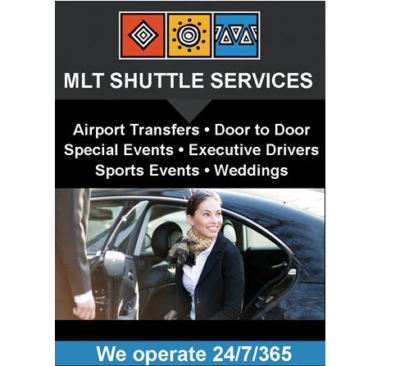 MLT Shuttle Service woman getting into car