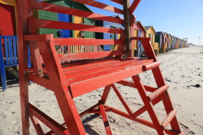 Muizenberg Beach red lifesaver chair