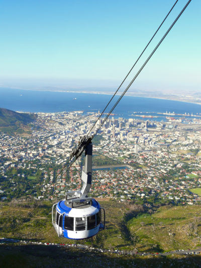 Table Mountain Aerial Cableway Cape Town CBD in background