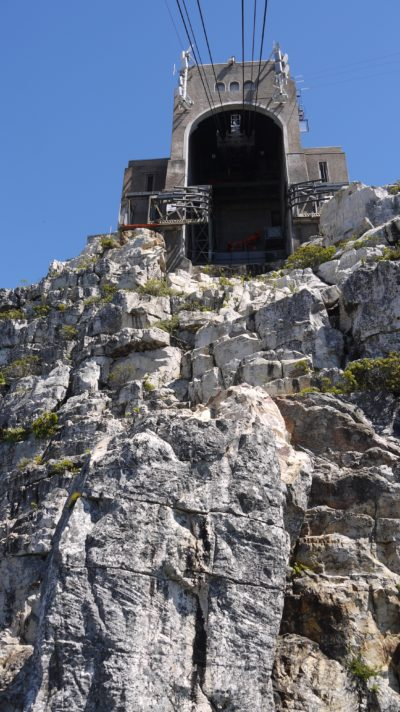 Table Mountain Aerial Cableway approaching top cable station
