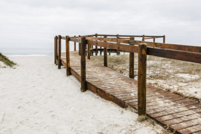 Blouberg Beach wooden walkway and lookout point on beach