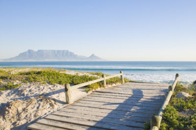 Blouberg Beach wide wooden walkway onto beach