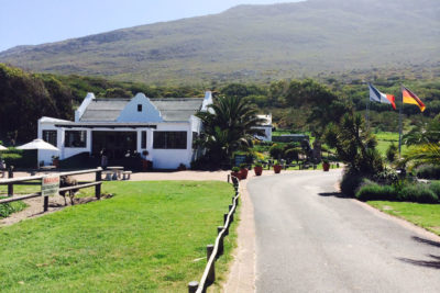 Cape Point Ostrich Farm view of restaurant from road