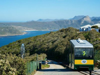 Cape Point Flying Dutchman view of funicular at halfway stop