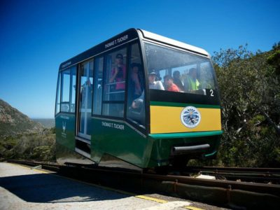 Cape Point Flying Dutchman people in funicular cart