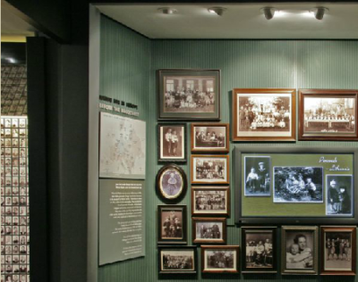Holocaust Museum photographs on wall