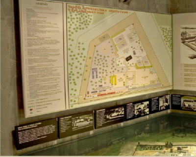 Holocaust Museum map of death camp