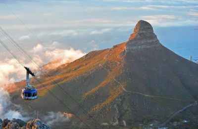 Table Mountain Aerial Cableway lions head in background